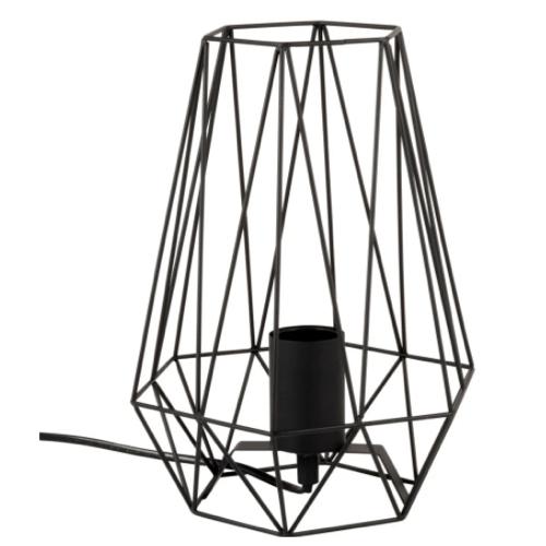 deco minimaliste chambre pas cher lampe a poser filaire noire