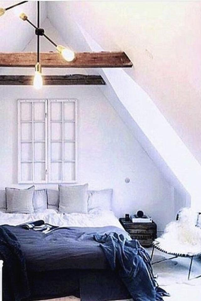 deco moderne chambre mansarde exemple 8 tete de lit simple en ton sur ton