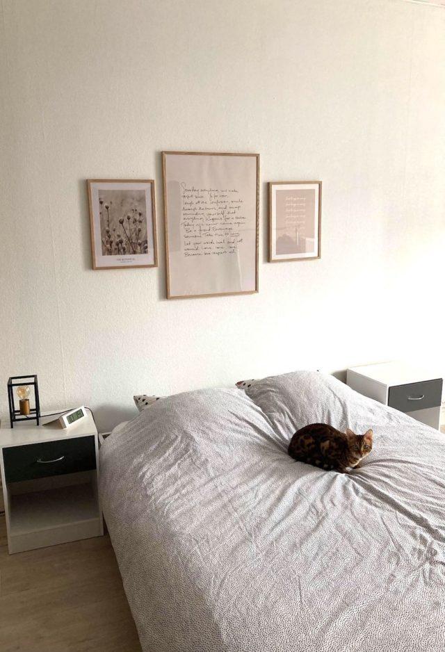 deco murale desenio chambre dessus de lit décor minimaliste