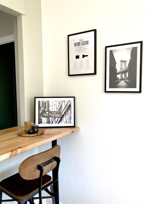 deco murale desenio sejour photo noir et blanc style ancien urbain
