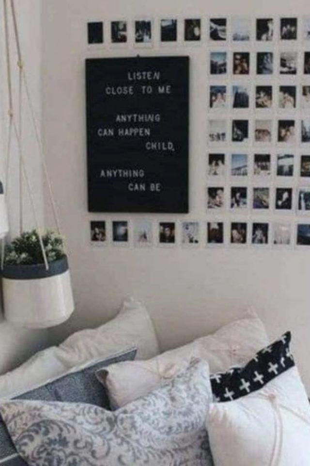 decoration chambre etudiant exemple deco murale photo instagram