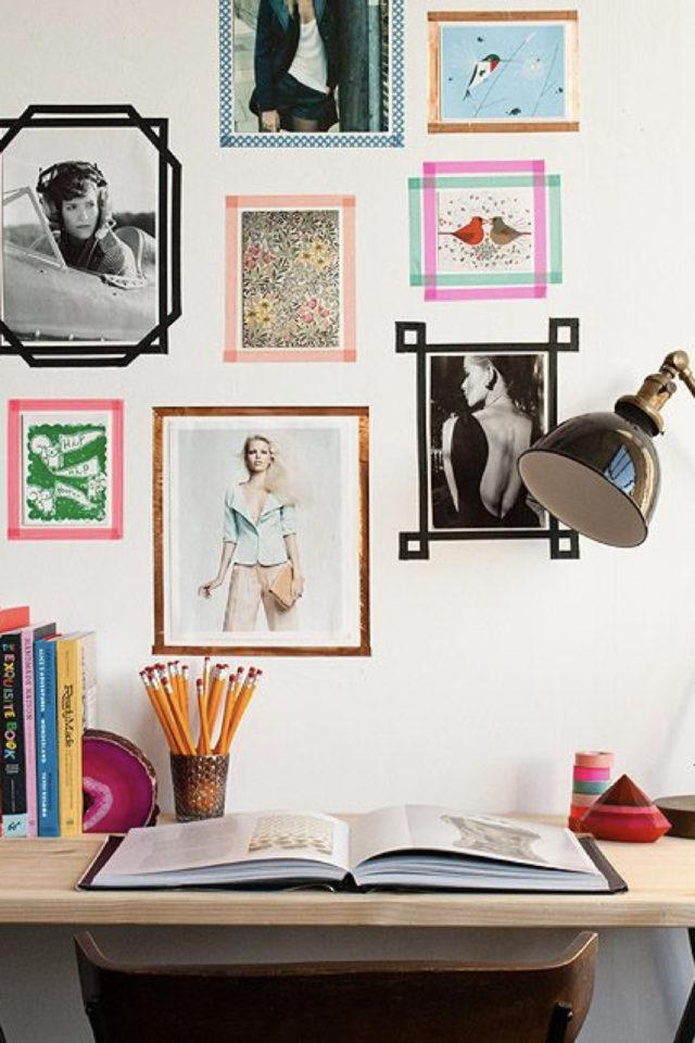 decoration chambre etudiant exemple photo masking tape pas cher