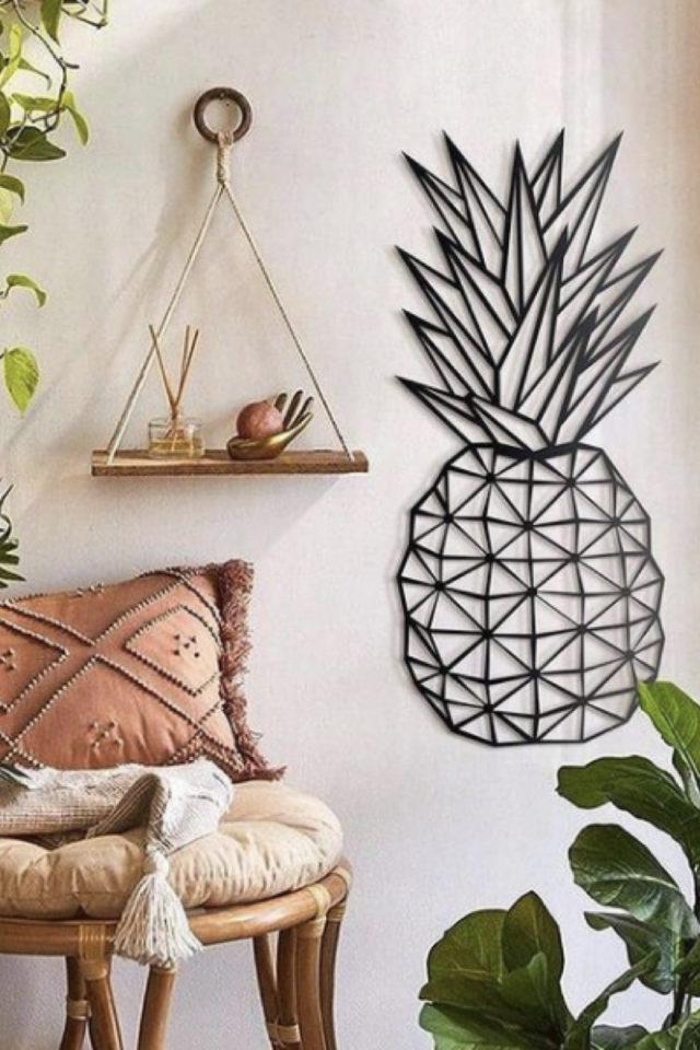 decoration murale metal made in france métallique originale jeune ananas design