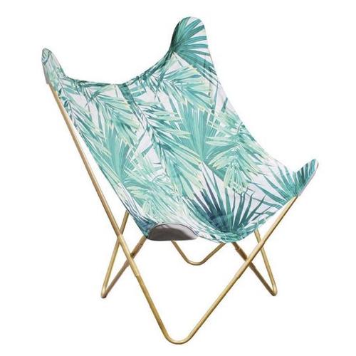 fauteuil deco pas cher papillon imprimé tropical