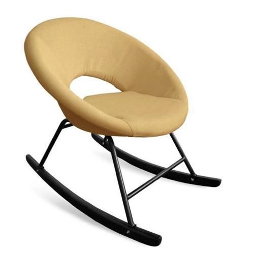 fauteuil deco pas cher bascule jaune