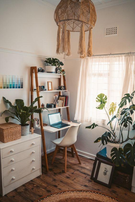 gain de place chambre exemple bureau travail à domicile