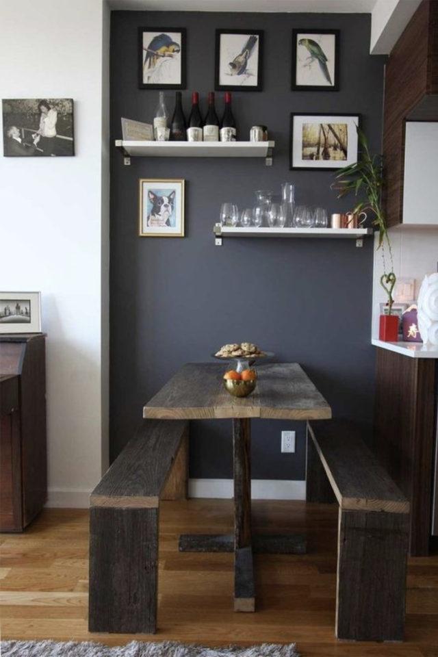 gain de place coin salle a manger peinture exemple delimitation espace