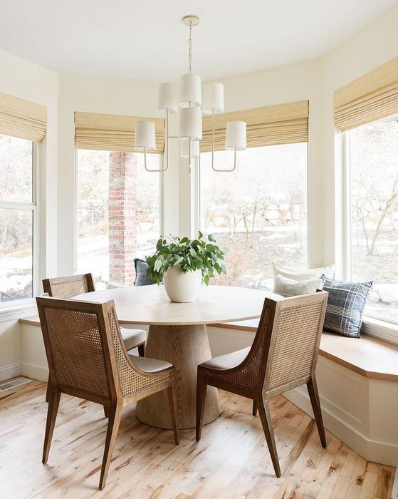 gain de place petite salle a manger exemple banquette bow window