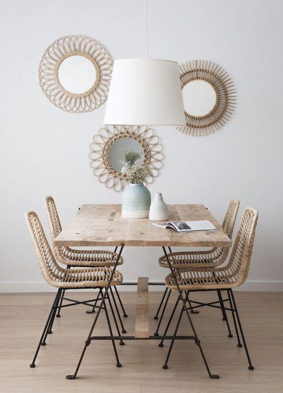 gain de place petite salle a manger exemple style scandicraft slow deco bois épuré