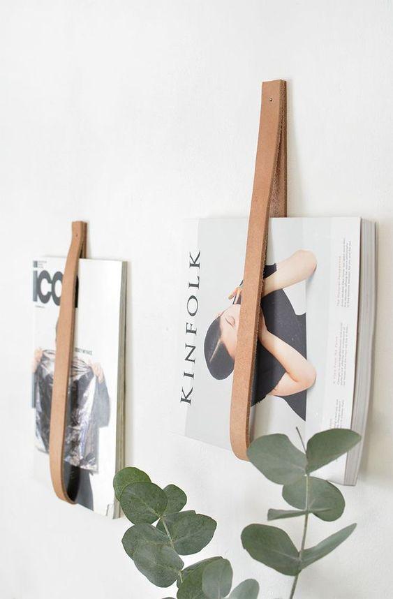 gain de place rangement exemple rangement magazine décoration murale