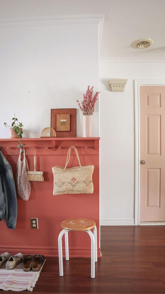 gain de place rangement exemple facile entrée couloir manteau patère
