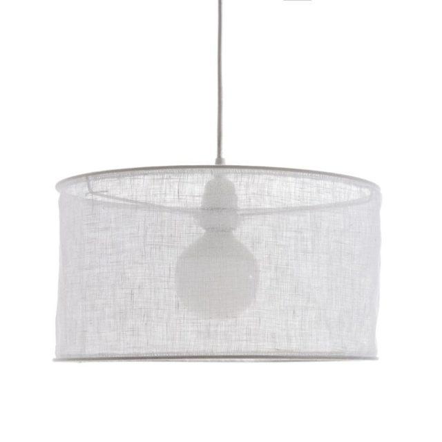 maison responsable decoration durable la redoute suspension luminaire en lin abat-jour