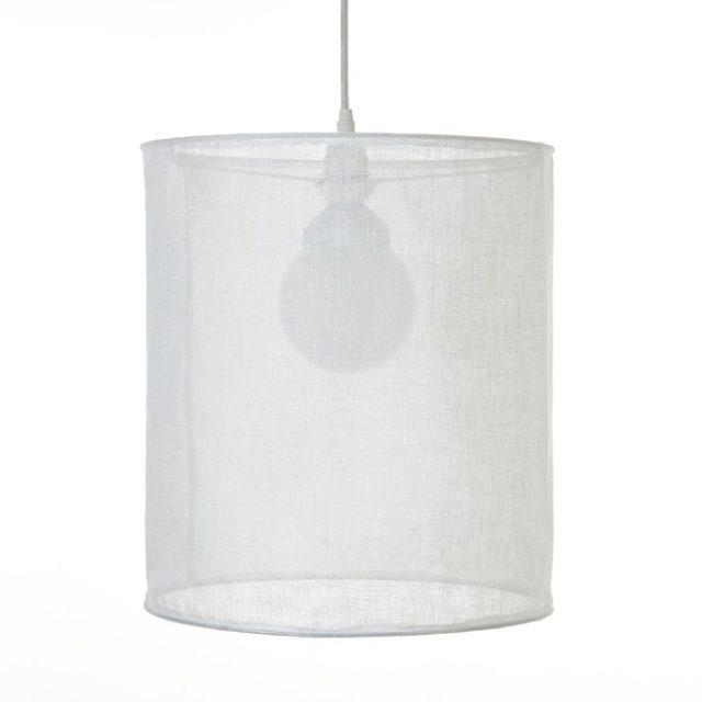 maison responsable decoration durable la redoute suspension abat-jour luminaire en lin décoration moderne exemple