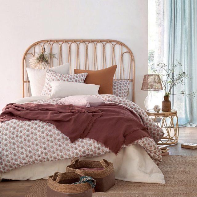 maison responsable decoration durable la redoute jetée de lit en lin lavé coloré