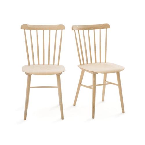 meuble coin repas moderne chaises scandinaves en bois naturel