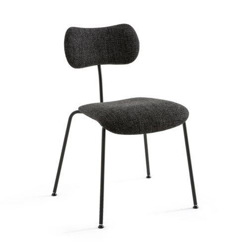 meuble coin repas moderne chaise design tissus gris chiné