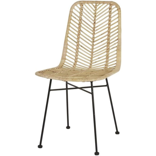 mobilier coin repas moderne chaise salle a manger rotin naturel tresse