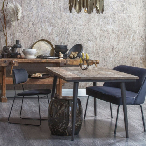 mobilier coin repas moderne banquette grise tendance