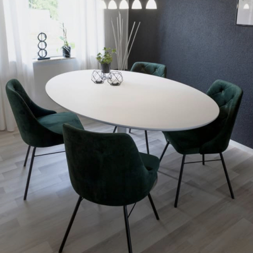 mobilier coin repas moderne table ovale pied central