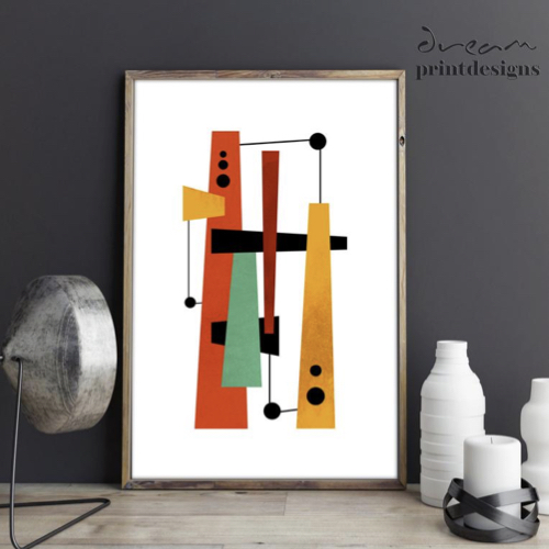 ou acheter decoration murale annee 50 inspiration abstrait couleur