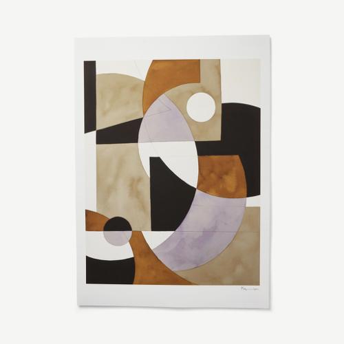 ou acheter decoration murale annee 50 inspiration art abstrait teinte marron