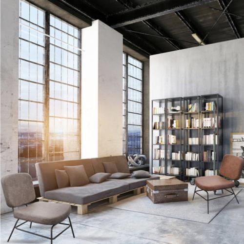 ou acheter fauteuil moins de 100euros gris moderne bas structure metal