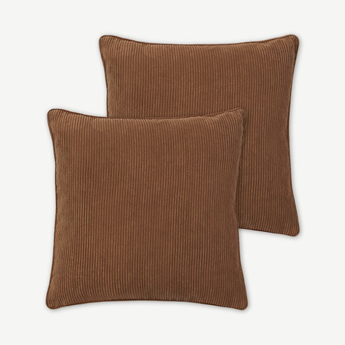 ou trouver accessoire deco minimaliste chambre housse coussin velours cotelet bicolore