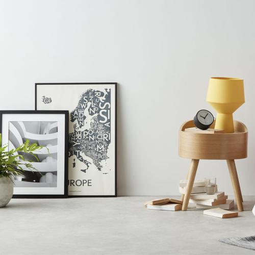 ou trouver accessoire deco minimaliste chambre table de chevet ronde design bois