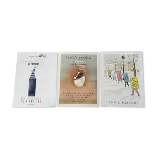 ou trouver affiche vintage annees 50 publicité pour parfum