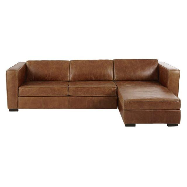 ou trouver canape angle cuir tendance classique et vintage
