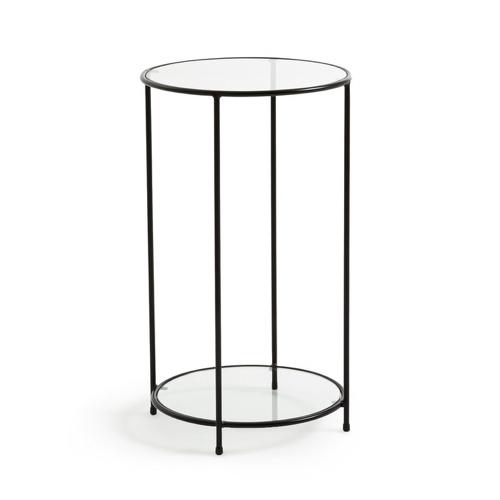 ou trouver deco minimaliste chambre nouveaute table de chevet ronde métal et verre
