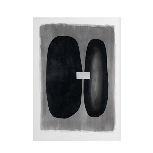 ou trouver deco minimaliste chambre nouveaute affiche deco noir et grise abstraite