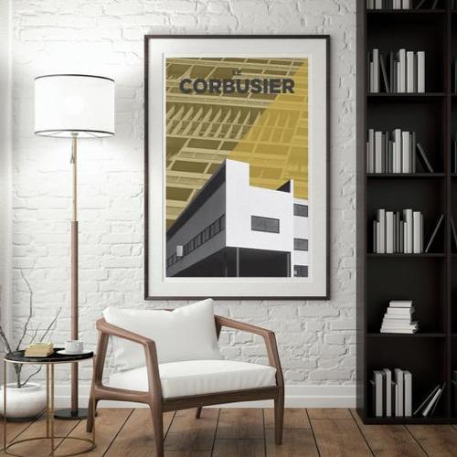 ou trouver decoration murale mid century affiche deco architecture Le Corbusier
