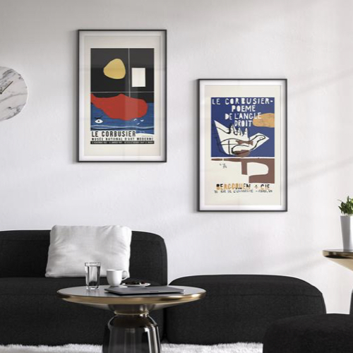 ou trouver decoration murale mid century affiche exposition Le Corbusier