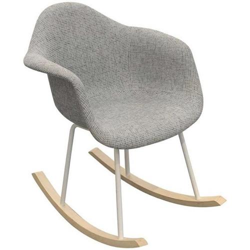ou trouver fauteuil deco pas cher fauteuil à bascule style scandinave gris