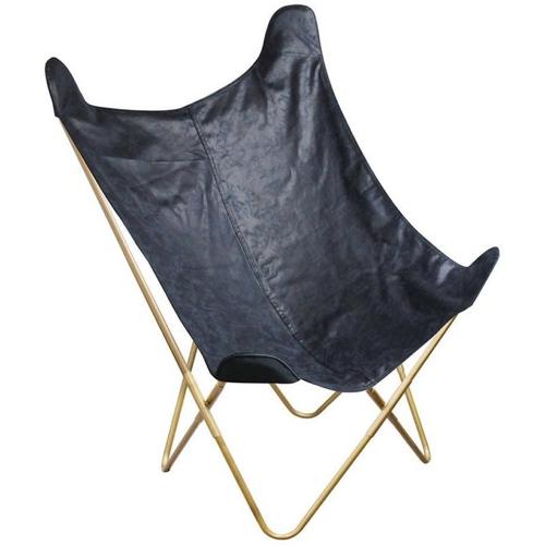 ou trouver fauteuil deco pas cher papillon suédine effet cuir noir