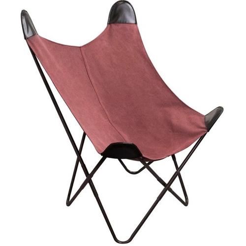 ou trouver fauteuil deco pas cher forme papillon terracotta et noir moderne