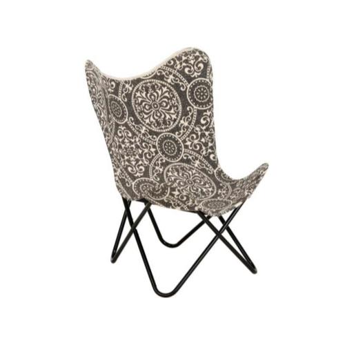 ou trouver fauteuil papillon pas cher imprimé noir et blanc ethnique