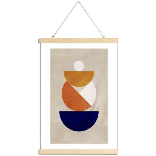 ou trouver poster deco mid century affiche moderne couleur années 50