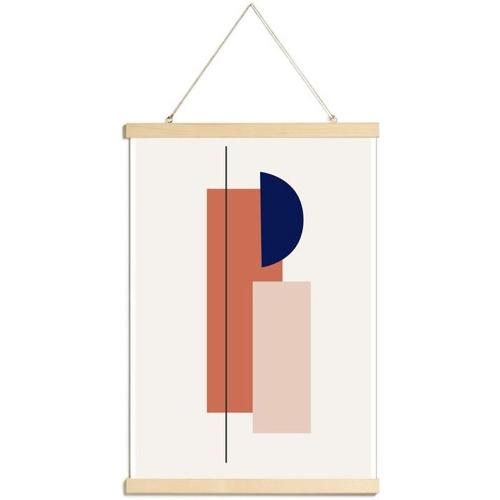 ou trouver poster deco mid century motif geometrique coloré