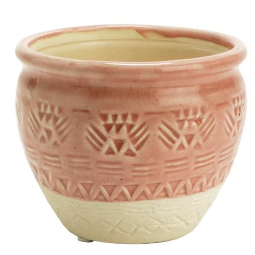 ou trouver pot fleur rose bi colore simple et classique