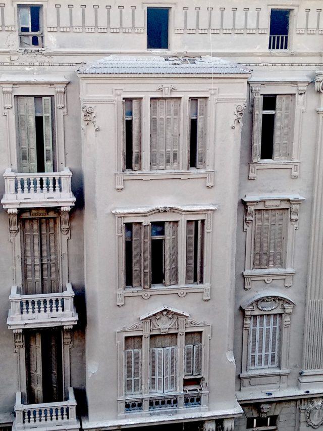 patrimoine 19e Caire détail façade architecture classique