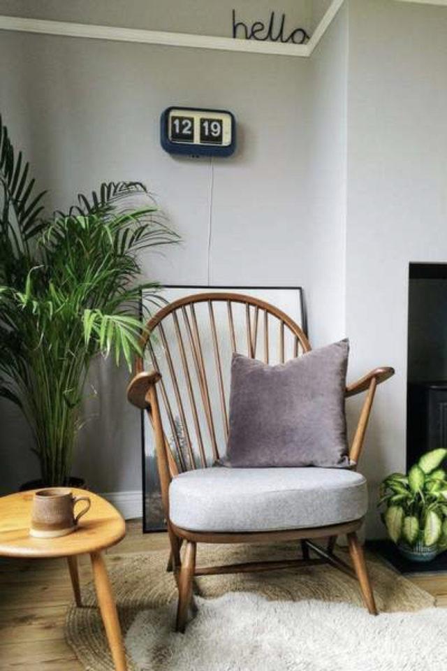 petit budget fauteuil deco décoration moderne couleur neutre plantes vertes