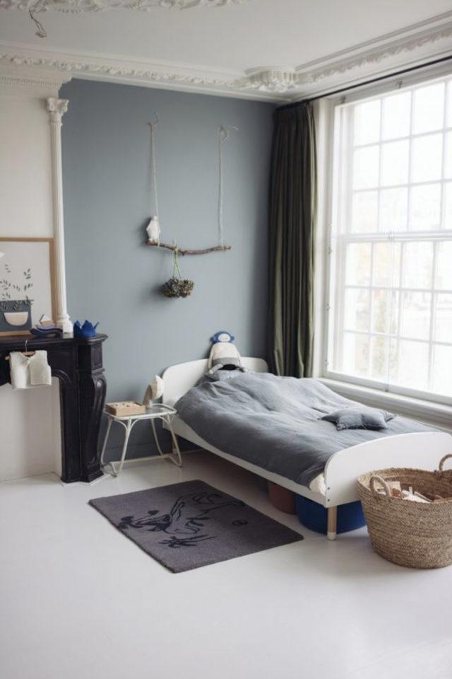 ambiance douce chambre enfant peinture bleue idée