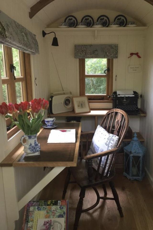 amenagement teletravail chalet de jardin exemple tranquillité calme bureau