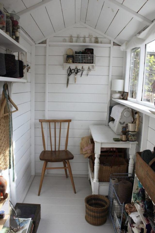 amenagement teletravail chalet de jardin exemple bureau travail a domicile passion