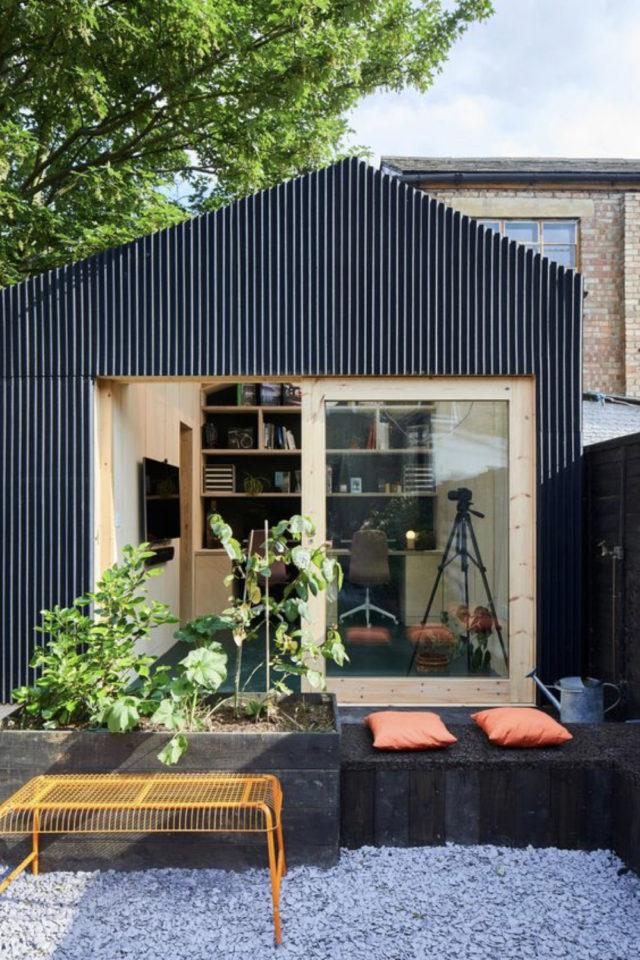 amenagement teletravail chalet de jardin exemple annexe maison calme et tranquille