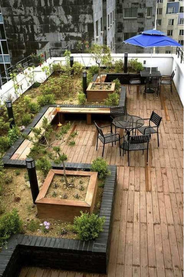 amenager toit immeuble jardin terrasse terrasse partagée espace agréable