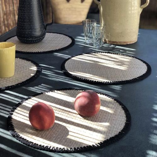 art de la table bord de mer set de table naturel tressé