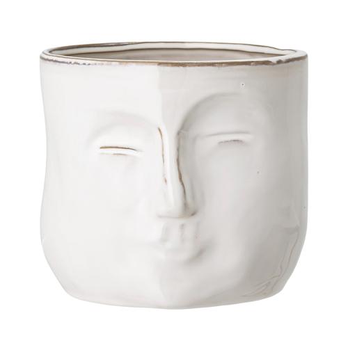cache pot deco idee shopping forme visage blanc décoration moderne tendance